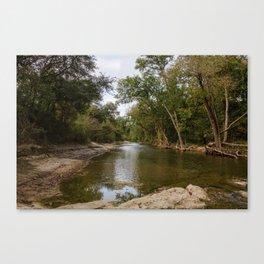Brushy Creek Bed Canvas Print