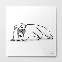 Sad Mochi the pug Metal Print