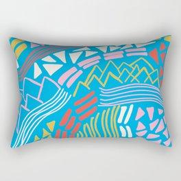 cascade, abstract terrain Rectangular Pillow