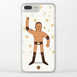 The Great One (Pro Wrestler Illustration) Clear iPhone Case