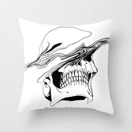 Skull #2 (Liquify) Throw Pillow