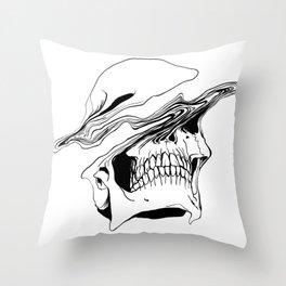 Skull (Liquify) Throw Pillow