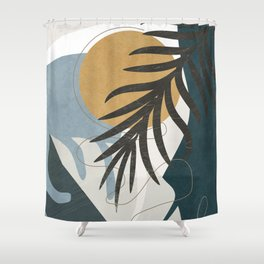 Abstract Tropical Art II Shower Curtain