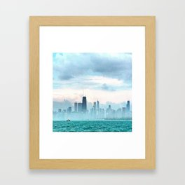 Foggy Michigan Sea Framed Art Print