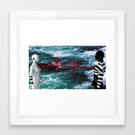 The bridge between us Framed Art Print