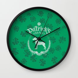St. Patrick's Day Great Dane Funny Gifts for Dog Lovers Wall Clock