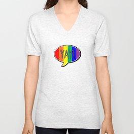 """YAY!"" Gay Pride Edition No. 1 | Billy & Pat Unisex V-Neck"