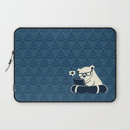 Wifinimals - Bear in the Sea of WiFi Laptop Sleeve