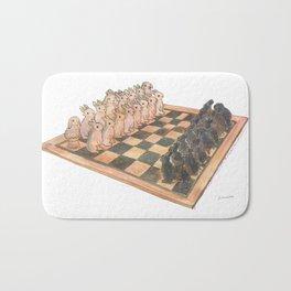 Bunny chess Bath Mat