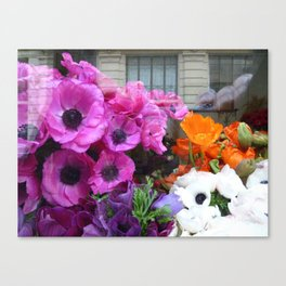 Flower Shop Window Canvas Print