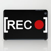parks and rec iPad Cases featuring Record button - [REC] by Alisa Galitsyna