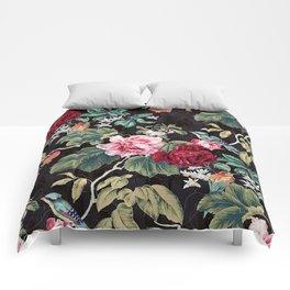 Noir Flower Pattern Comforters