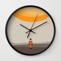 alone Wall Clocks featuring alone by avoid peril