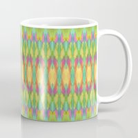 ikat Mugs featuring Ikat  by Amber Nuttall