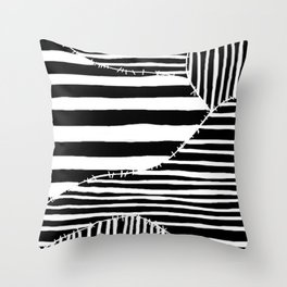 Stripes & Stitches Throw Pillow