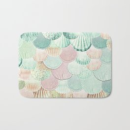 MERMAID SHELLS - MINT & ROSEGOLD Bath Mat