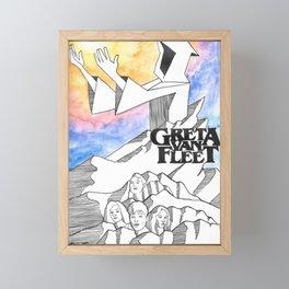 Greta Van Fleet Fan Art Framed Mini Art Print