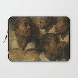 Four Studies of a Head of a Moor by Peter Paul Rubens Laptop Sleeve
