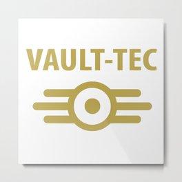 Vault Tec Metal Print