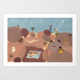 Hiking Days Art Print