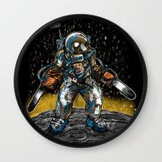 Texas Chainsaw Astronaut Wall Clock