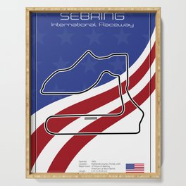 Sebring Racetrack Serving Tray
