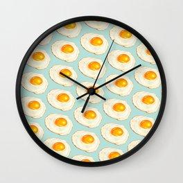 Egg Pattern - Blue Wall Clock