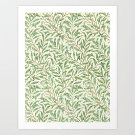 Classic Vintage Foliage Leaves Pattern Art Print