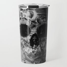 Garden Skull B&W Travel Mug