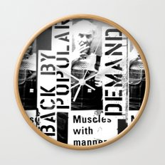 Muscles on Demand (B&W) Wall Clock