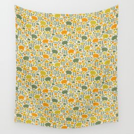 Autumn Hedgehog Forest Wall Tapestry