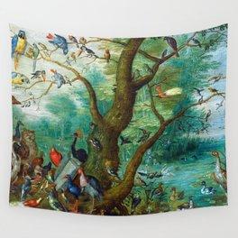 Jan van Kessel - Concert of birds Wall Tapestry