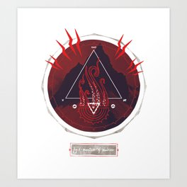 Mountain of Madness (red) Art Print