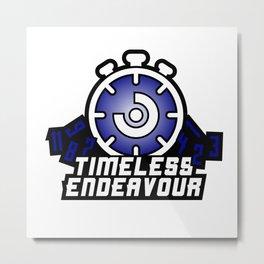 Timeless Endeavour Logo - Blue/White Metal Print