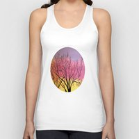blush Tank Tops featuring Winter's blush by maggs326