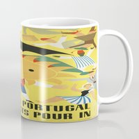 portugal Mugs featuring Portugal by Kathead Tarot/David Rivera