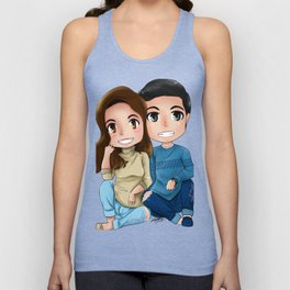 Alden and Maine Sitting Unisex Tank Top