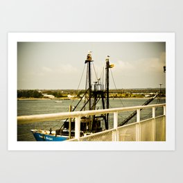 Orange Dock Art Print