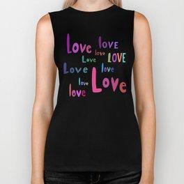 love love love love love love love love love love Biker Tank