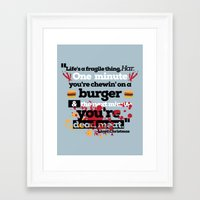 dumb and dumber Framed Art Prints featuring Dead Meat - Dumb and Dumber by Panda McFan