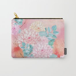 Gold dahlia bouquet #society6 Carry-All Pouch