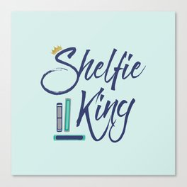Booklover Shelfie King Canvas Print