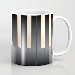 White And Black Piano Keys Coffee Mug