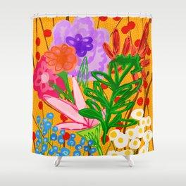 flower bomb Shower Curtain