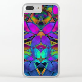 Floral Fractal Art G308 Clear iPhone Case