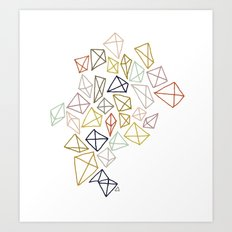 multicolor diamonds Art Print