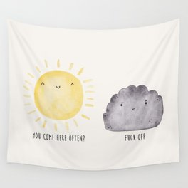 The Sun and the Rain-cloud (Watercolour) Wall Tapestry