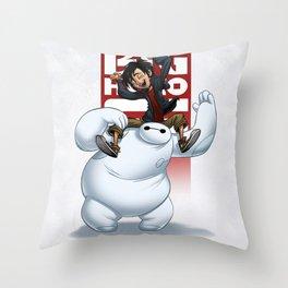hero and baymax Throw Pillow