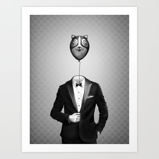 Mr. Kitty Art Print