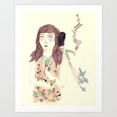 Pricked Art Print